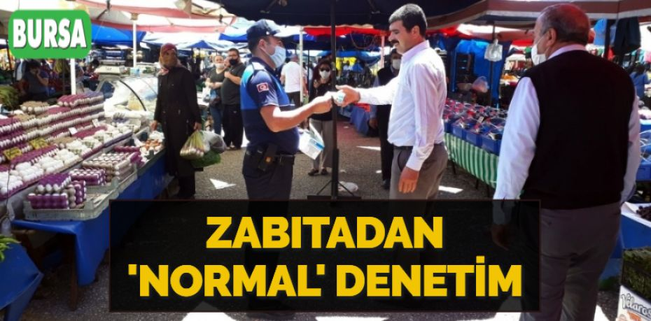 ZABITADAN 'NORMAL' DENETİM